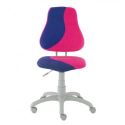 Rostoucí židle Fuxo S Line Suedine modro-růžová 900