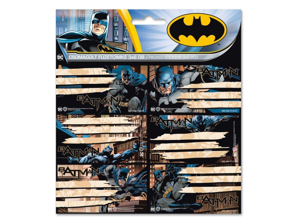 Menovky na zošity Batman 18 ks