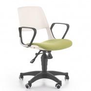 Študentská otočná stolička HalmarJUMBO zelená-biela