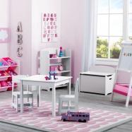 Dětský stůl s židlemi bílý