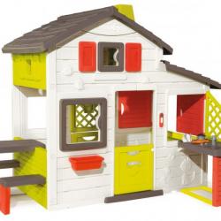 Smoby - Domek Friends House z dzwonkiem, ogródkiem i kuchnią