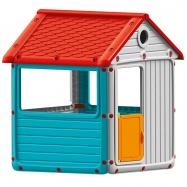 Detský záhradný domček, plastový, modrý