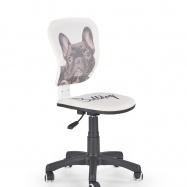 Dětská otočná židle Flyer Bulldog bílo-černá