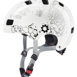 UVEX HELMA KID 3, WHITE FLOWER 51-55 cm