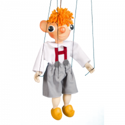 Marionetka drewniana Hurvinek, 20 cm