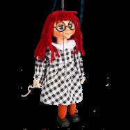 Marionetka drewniana Mańka, 20 cm