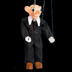 Marionetka drewniana Spejbl, 26 cm