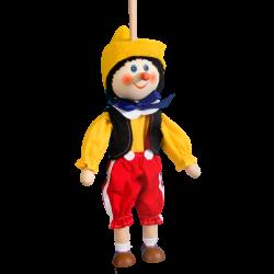 Dřevěná loutka bez nití Pinokio