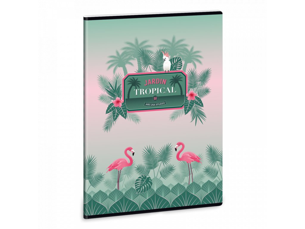Ars Una Sešit Pink Flamingo A4 linkovaný