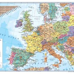 Písacia podložka 60x40cm Európa