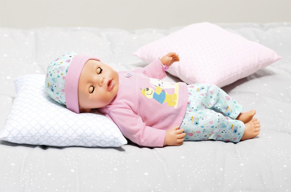 Baby Born Bath Soft Touch holčička s doplňky na čištění zubů 43 cm