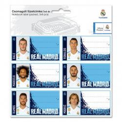 Jmenovky na sešity Real Madrid 18 ks