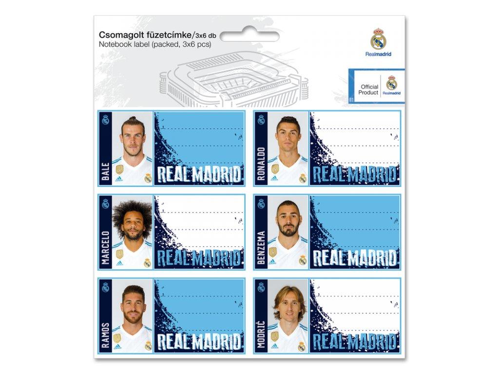 Menovky na zošity Real Madrid 18 ks