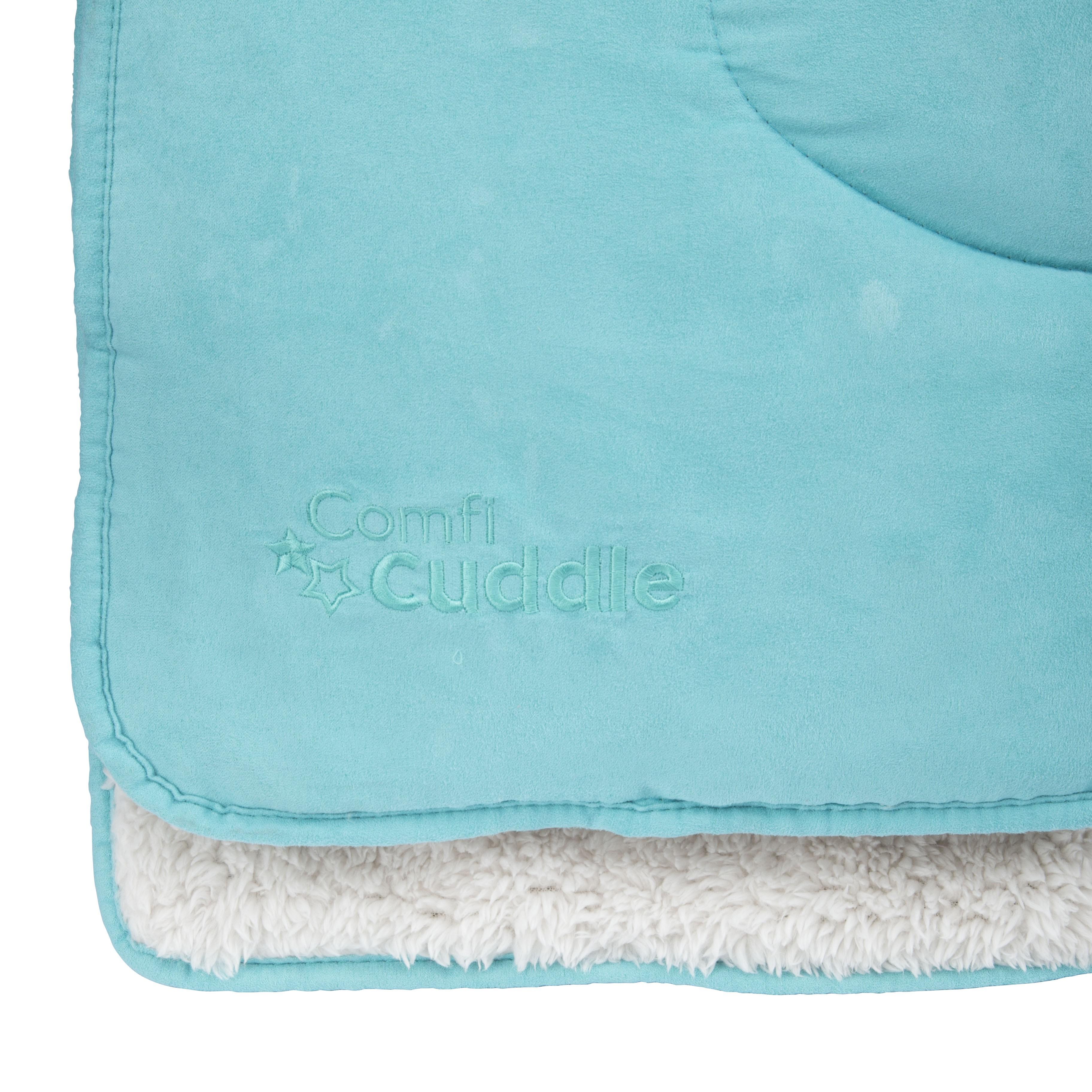 CUDDLECO Super měkká oboustranná dětská deka 110x75 cm, Tiffany blue