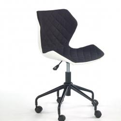 Dětská otočná židle Halmar MATRIX černá-bílá