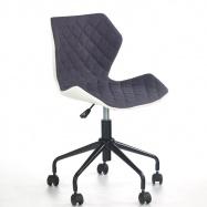 Dětská otočná židle Halmar MATRIX šedá-bílá