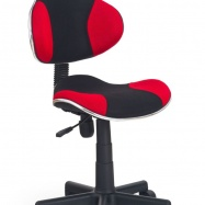 Dětská otočná židle Halmar FLASH červená-černá