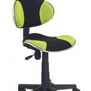 Detská otočná stolička Halmar FLASH zelená-čierna