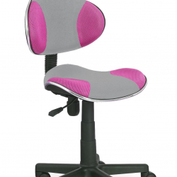 Dětská otočná židle Halmar FLASH 2 růžová-šedá
