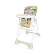 Baby Desing Krzesełko do karmienia plastikowe PEPE 09 BEIGE