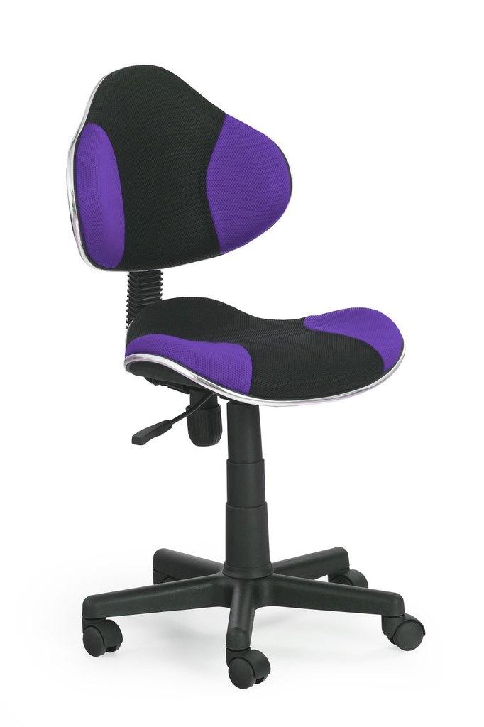 Dětská otočná židle Halmar FLASH fialová-černá