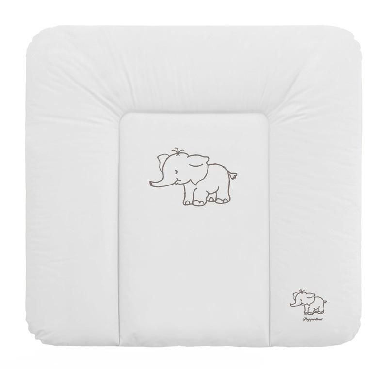 Přebalovací podložka Puppolina měkká Slon Bílá 74 x 72 cm