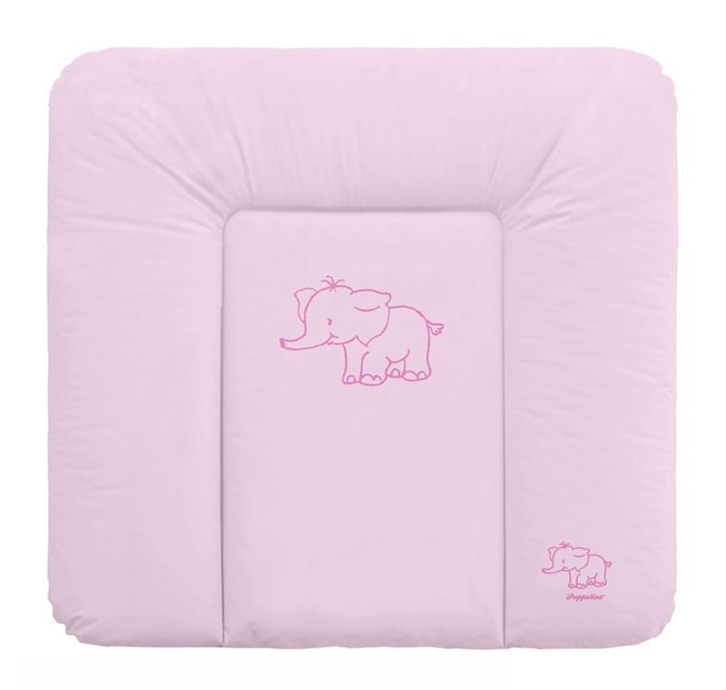 Přebalovací podložka Puppolina měkká Slon Růžová 74 x 72 cm