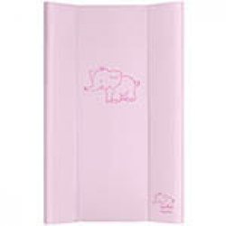 Przewijak Puppolina sztywny, Słoń, różowy 50x80 cm