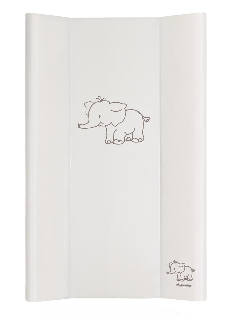 Přebalovací podložka Puppolina pevná Slon Bílá 50 x 80 cm