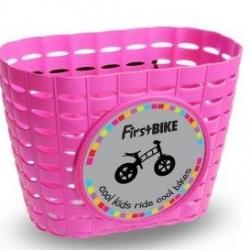 First Bike košík na riadidlá růžový
