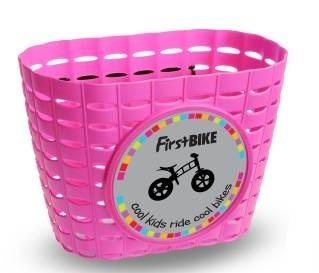 First Bike košík na řídítka růžový