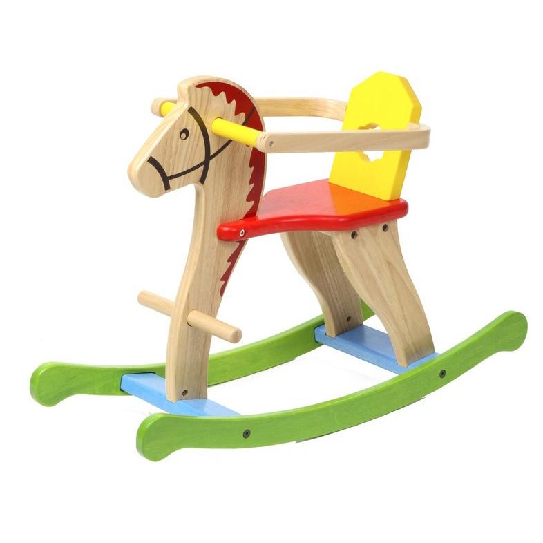 Dřevěný houpací kůň barevný