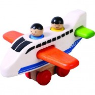 Dřevěné letadlo skládačka