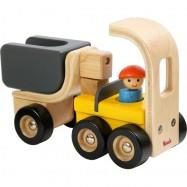 Drevené nákladné auto s elektrocentrálou