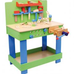 Warsztat z narzędziami do zabawy dla dzieci