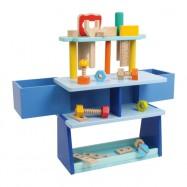 Ponk - dílenský stůl modrý