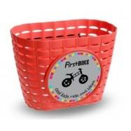 First Bike košík na řídítka červený