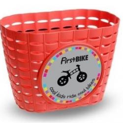 First Bike košík na riadidlá červený