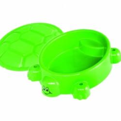 Piaskownica uśmiechnięty żółw+ pokrywa