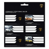 Jmenovky na sešity Lamborghini 18ks