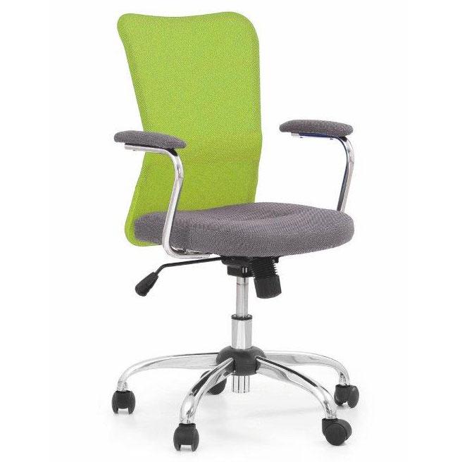 9e3e12c7bb10 Detská otočná stolička ANDY zelená-šedá