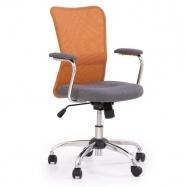 Dětská otočná židle ANDY oranžová-šedá