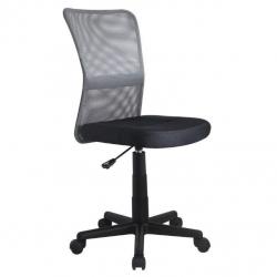 Dětská otočná židle DINGO šedá-černá