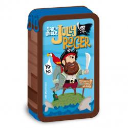 Penál Pirát Jolly Roger dvoupatrový