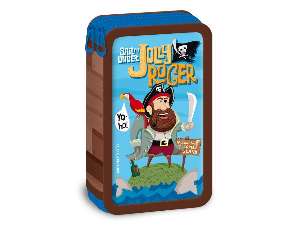 Peračník Pirát Jolly Roger dvojposchodový