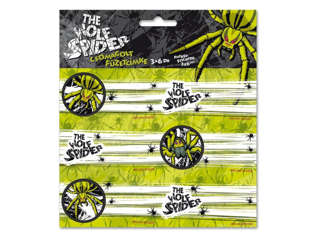 ARS UNA Menovky na zošity Wolf Spider 18ks