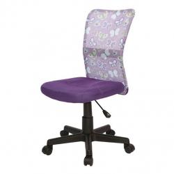 Halmar Krzesło do biurka DINGO fioletowe