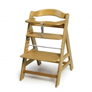 Rostoucí dětská židle Alpha+ včetně bezpečnostních pásů natur