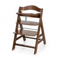 Rostoucí dětská židle Alpha+ včetně bezpečnostních pásů walnut