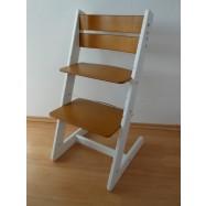 Detská rastúca stolička JITRO KLASIK bielo dubová